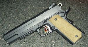Caspain 1911 in flat black duracaot.